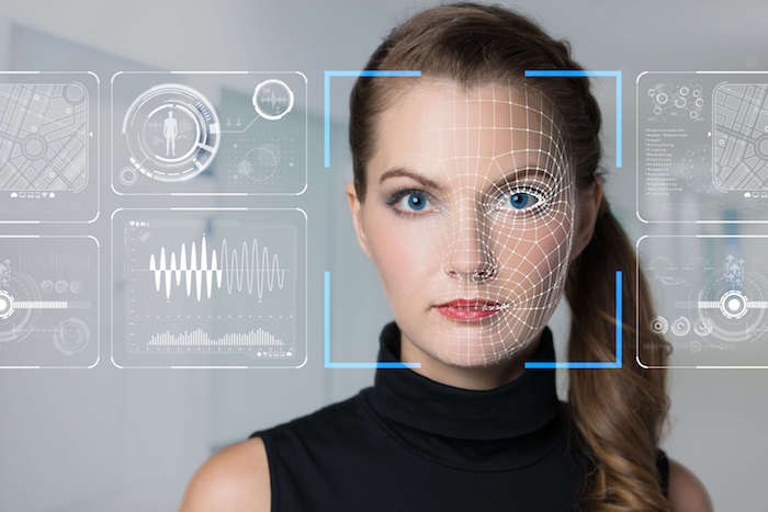 Facial Recognition System Konzept. Privacy issues.